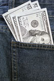 Dollars in a pocket Royalty Free Stock Photography