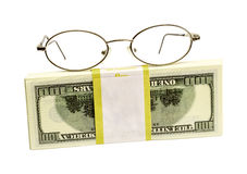 Dollars and points for eyes Stock Photography