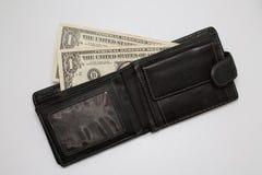Dollars in portefeuille Royalty-vrije Stock Afbeeldingen