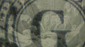 Dollars with portraits of US presidents. American money close up shot. Dollars with portraits of US presidents stock video