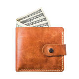 Dollars in purse Stock Photography