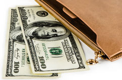 Dollars and purse Royalty Free Stock Image