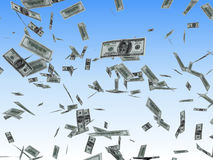 Dollars rain. Animated version available Royalty Free Stock Photos