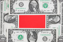 Dollars frame  Royalty Free Stock Photography