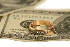 On dollars the ring lays. Royalty Free Stock Images