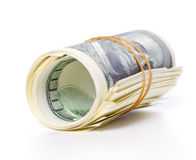 Dollars roll Royalty Free Stock Photo