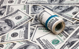 Dollars roll Royalty Free Stock Photography