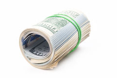 Dollars roll Royalty Free Stock Image