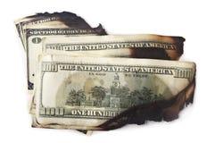 Dollars sales et de brûlure Image libre de droits