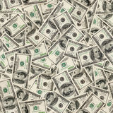Dollars seamless background. Royalty Free Stock Photos