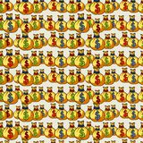 Dollars seamless pattern with white background Stock Image