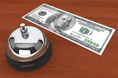 Dollars and Service Bell Royalty Free Stock Images
