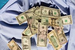 Dollars on a shirt Stock Photography