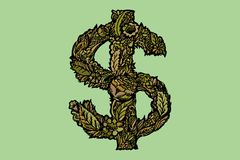 Dollars sign icon. USD currency symbol. Money label. Stock Photo