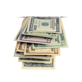 Dollars in the slit. Stock Photos