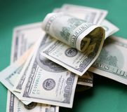 Dollars. Some piece of money Stock Images