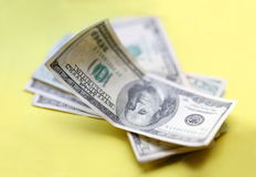 Dollars. Some piece of money Royalty Free Stock Images