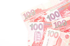 100 dollars sont la devise nationale de Hong Kong Photographie stock libre de droits