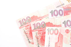100 dollars sont la devise nationale de Hong Kong Image stock