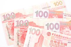 100 dollars sont la devise nationale de Hong Kong Images stock