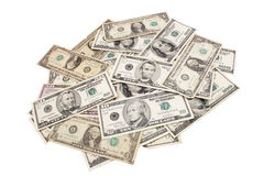 Dollars spreaded Royalty Free Stock Image
