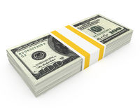 Dollars stack Royalty Free Stock Images