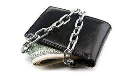 Dollars stack with chains Royalty Free Stock Photo