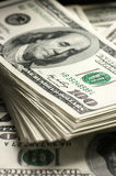 Dollars stack close-up Royalty Free Stock Image
