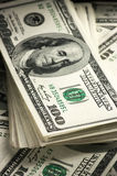 Dollars stack close-up Stock Photos