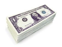 Dollars stack Royalty Free Stock Photography