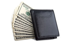 Dollars stack in wallet Royalty Free Stock Image