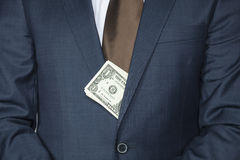 Dollars sticking out Stock Photography