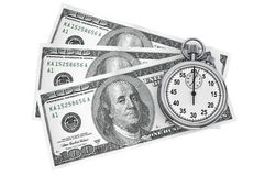 Dollars and Stopwatch Royalty Free Stock Image