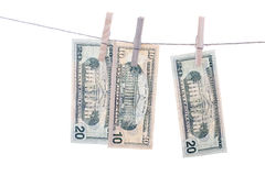 Dollars on string. Royalty Free Stock Image