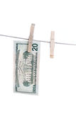 Dollars on string. Stock Image