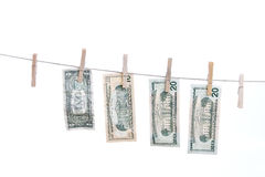 Dollars on string. Royalty Free Stock Photography
