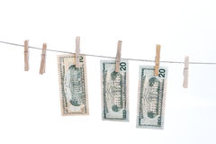 Dollars on string. Stock Photos