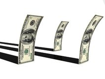 Dollars with stripes Royalty Free Stock Photos