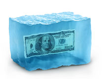 Dollars sur la glace Photo stock