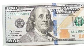 Dollars sur le blanc Image libre de droits