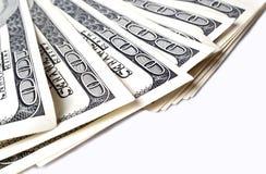 Dollars sur le fond blanc Photo libre de droits