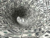 Dollars swirl. Royalty Free Stock Images