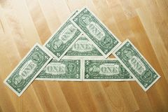 Dollars on the table Royalty Free Stock Photography