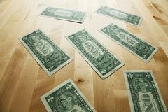 Dollars on the table Stock Photography