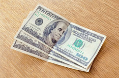 Dollars on the table. Three hundred dollars on the table Royalty Free Stock Image
