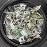 Dollars are tightened to tunnel Royalty Free Stock Photos