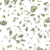 Dollars tijdens de vlucht Stock Foto