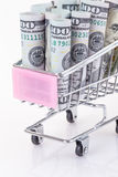 Dollars in trolley Royalty Free Stock Image