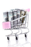 Dollars in trolley Royalty Free Stock Photo