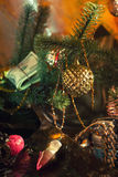 Dollars under the Christmas fir Royalty Free Stock Images